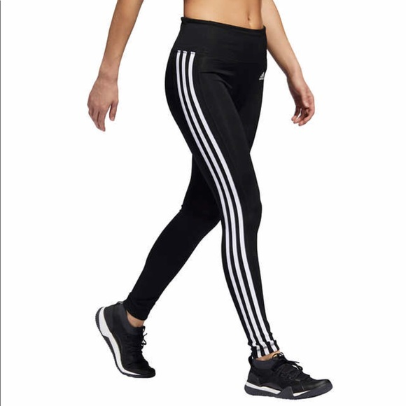 5d9a2ad301b adidas Pants | New Active 3 Stripe Leggings Classic Black | Poshmark
